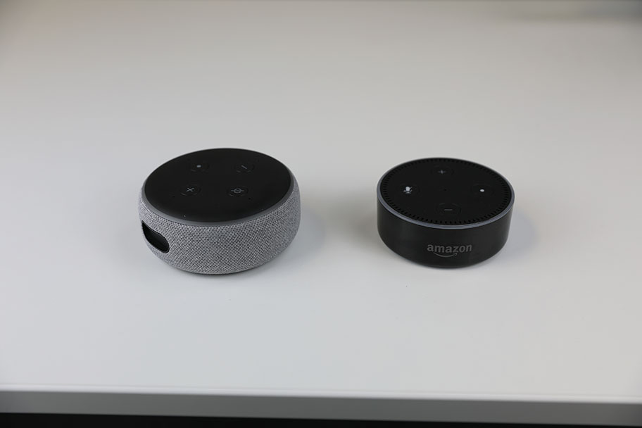 Echo Dot (3rd Gen) on the left, Echo Dot (2nd Gen) on the right | The Master Switch ​