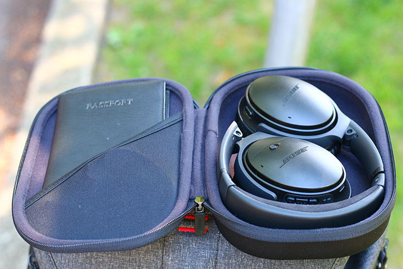 Folded and stored, the QC35 IIs make a compact package | The Master Switch