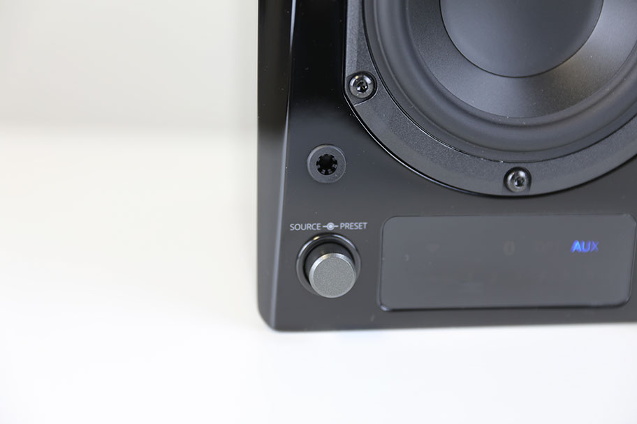 SVS Prime Wireless speaker system - source knob | The Master Switch