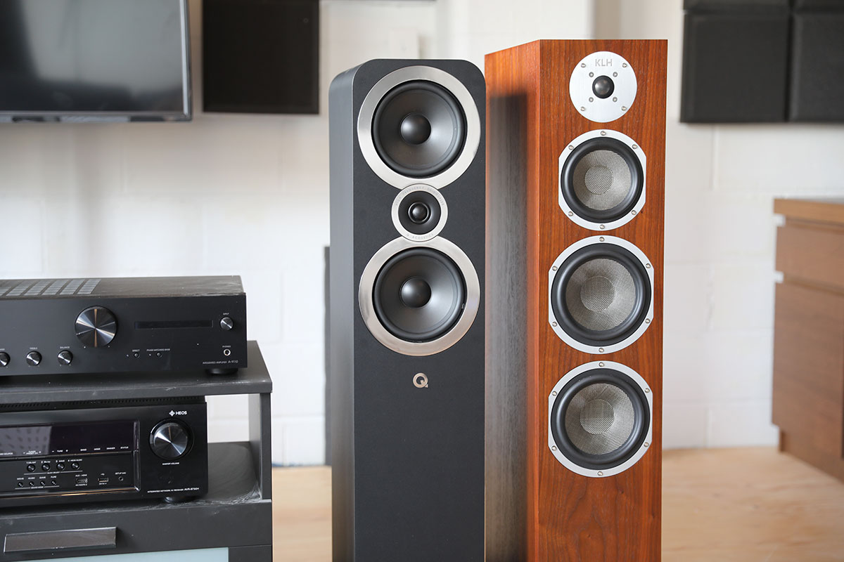Q Acoustics and KLH floorstanding speakers | The Master Switch