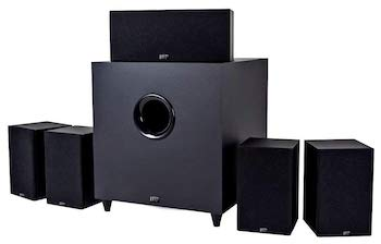 surround: 5 1  recommended amp power: 20-100w/8Ω low freq: 110hz high freq:  30khz  what we like: a good system at a great price point