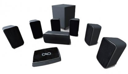 home theater wireless speakers. surround: 7.1. recommended amp power: n/a low freq: 20hz high 20khz. what we like: a poor cousin to the klipsch, above. home theater wireless speakers e