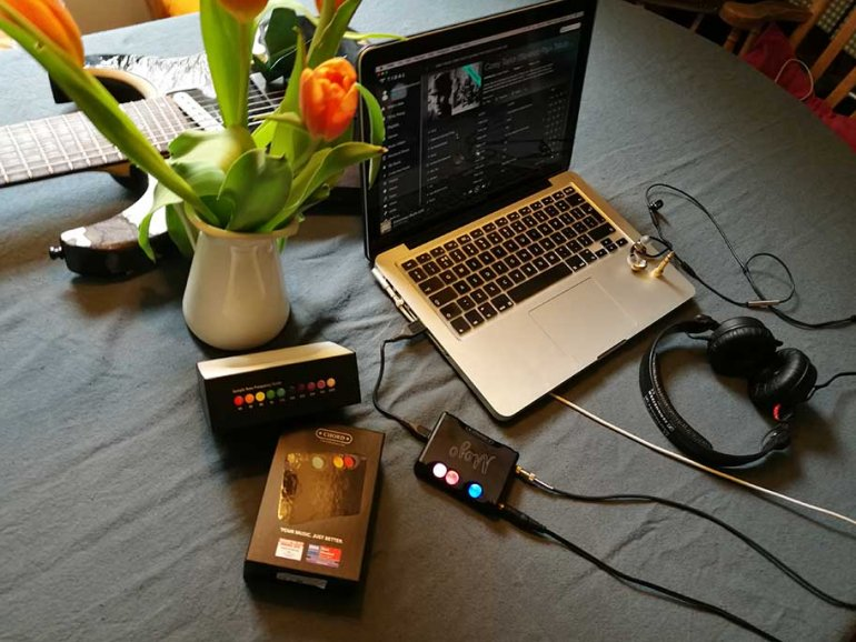 The Chord Mojo is both portable and handy for desktop use | Niko Tsonev