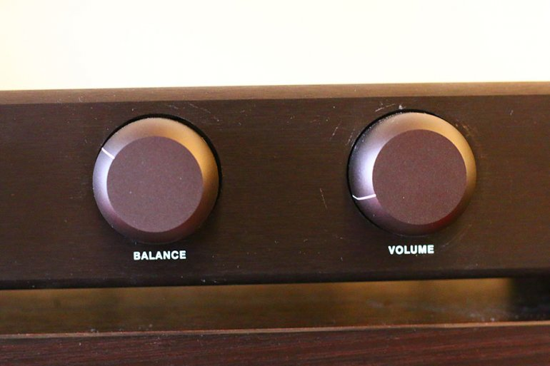 A balance control - not something you see on too many amps these days! | The Master Switch