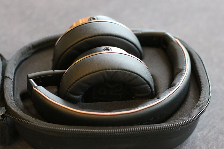 The headphones fold up for easy portability | The Master Switch