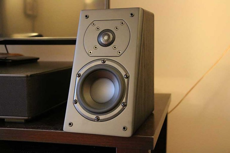 The excellent SVS Prime Elevation angled height speaker | The Master Switch