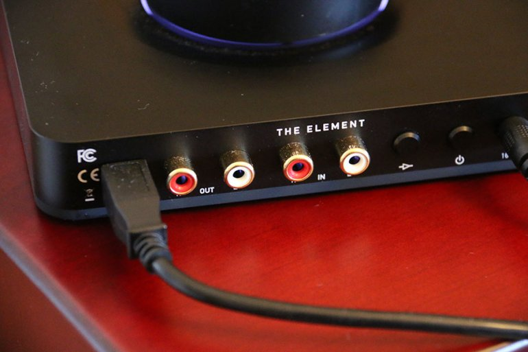 The Element has a comprehensive input/output section | The Master Switch