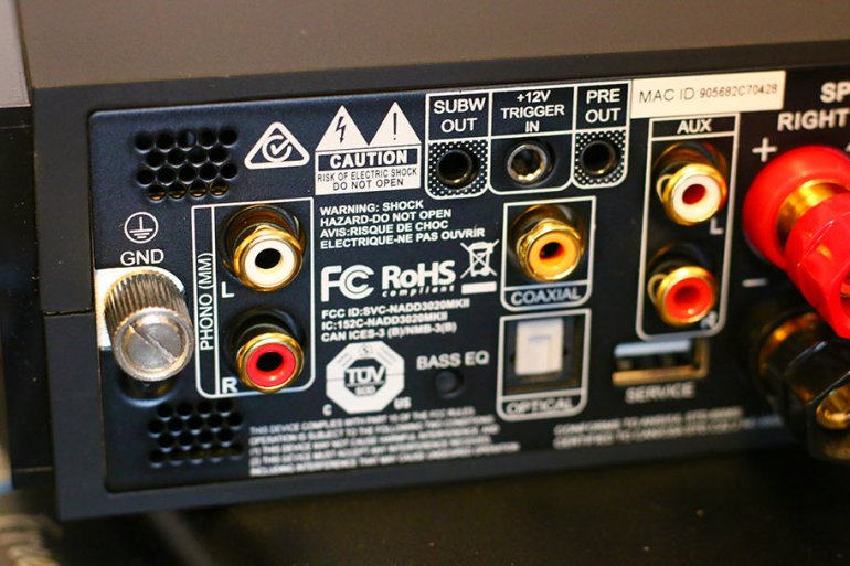 You lose the USB, but gain a phono input | The Master Switch