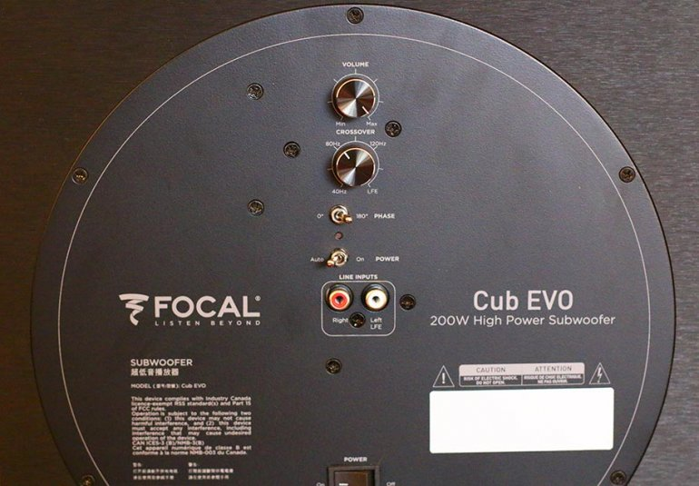 The rear end of the Sib Evo's excellent Cub subwoofer | The Master Switch