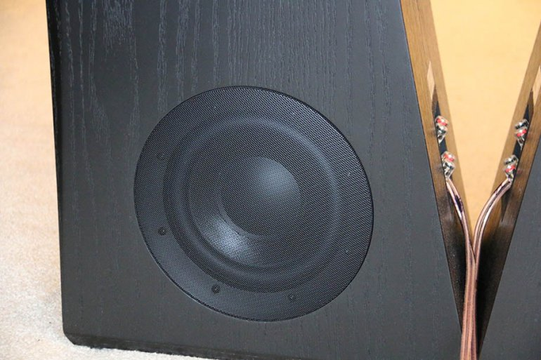 "Twin, angled 8"" woofers flank each speaker 